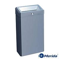 Корзина для мусора с конусным отверстием из матовой нержавейки 27л. Merida Stella Mini, Польша
