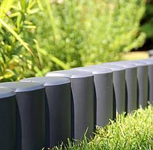 Бордюр садовый декоративный Palisada МАХІ h 12см графітовий ZMM MAXPOL