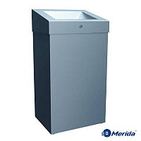 Корзина для мусора с отверстием из матовой нержавейки 47л. Merida Stella Maxi, Польша