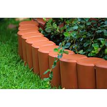 Бордюр садовый декоративный Palisada h 12см теракотовий