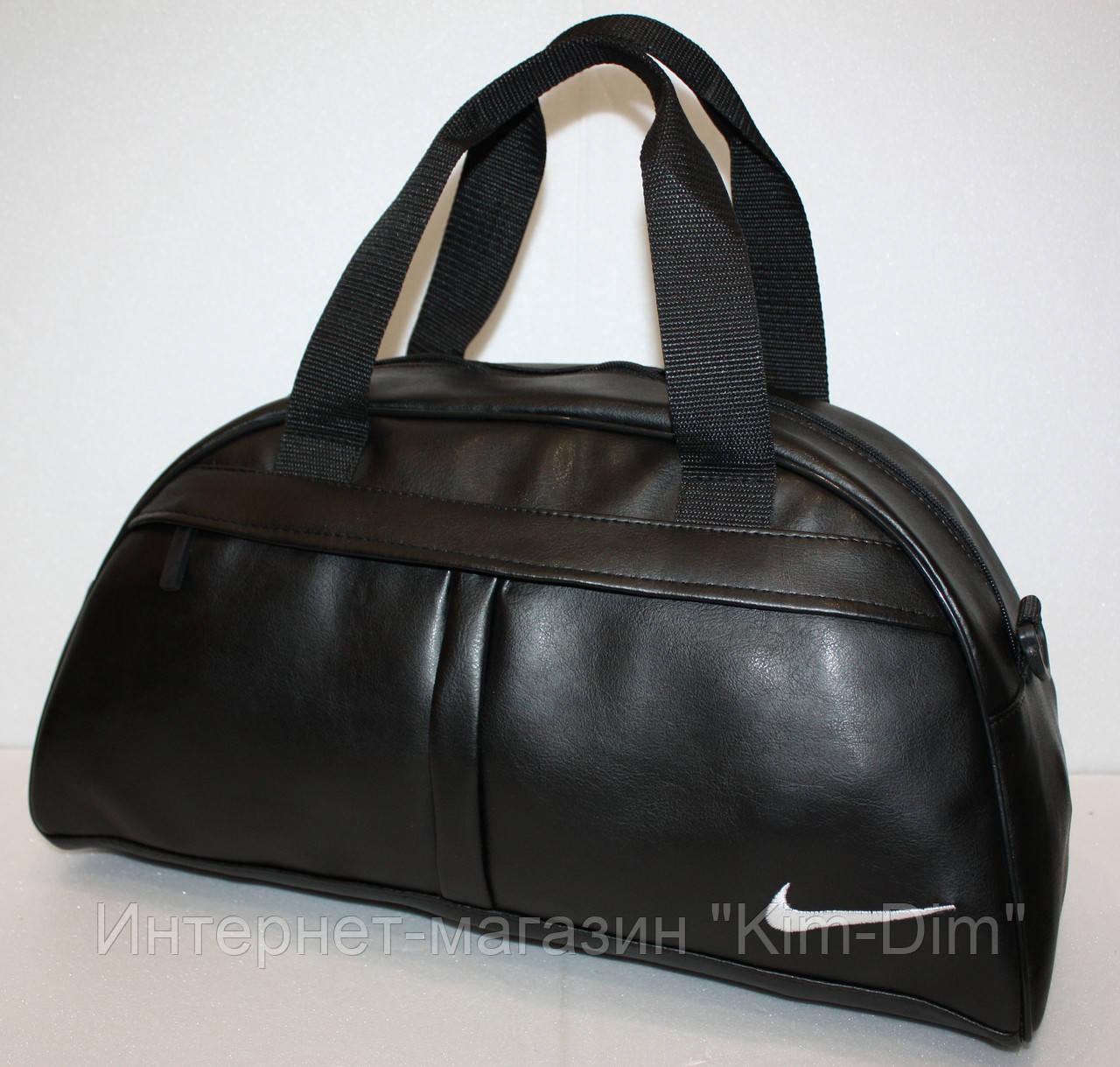 6b701f6a2cf3c Спортивная повседневная сумка в стиле Nike черная экокожа: продажа ...