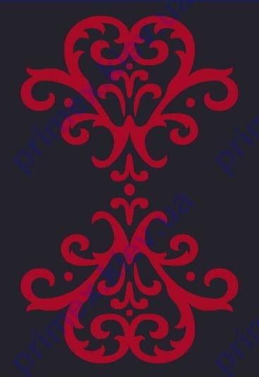 """Коврик Флорида """"Симметричный узор"""" цвет черный с красным. Купить ковры в Киеве и Украине"""
