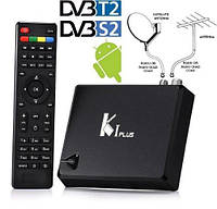 Смарт приставка K1 Plus Android 7,1 + DVB-T2 + спутниковое DVB-S2 HD1080p +  IP ТВ HD1080p + 4K, фото 1