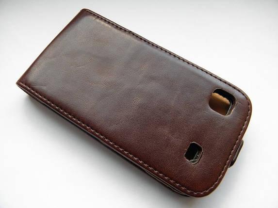 Качественный чехол-пенал на Ваш samsung i9000 раскладной коричневый, фото 2