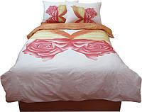 Комплект постельного белья Руно полуторный бабочка сатин арт.1.137К_Метелик