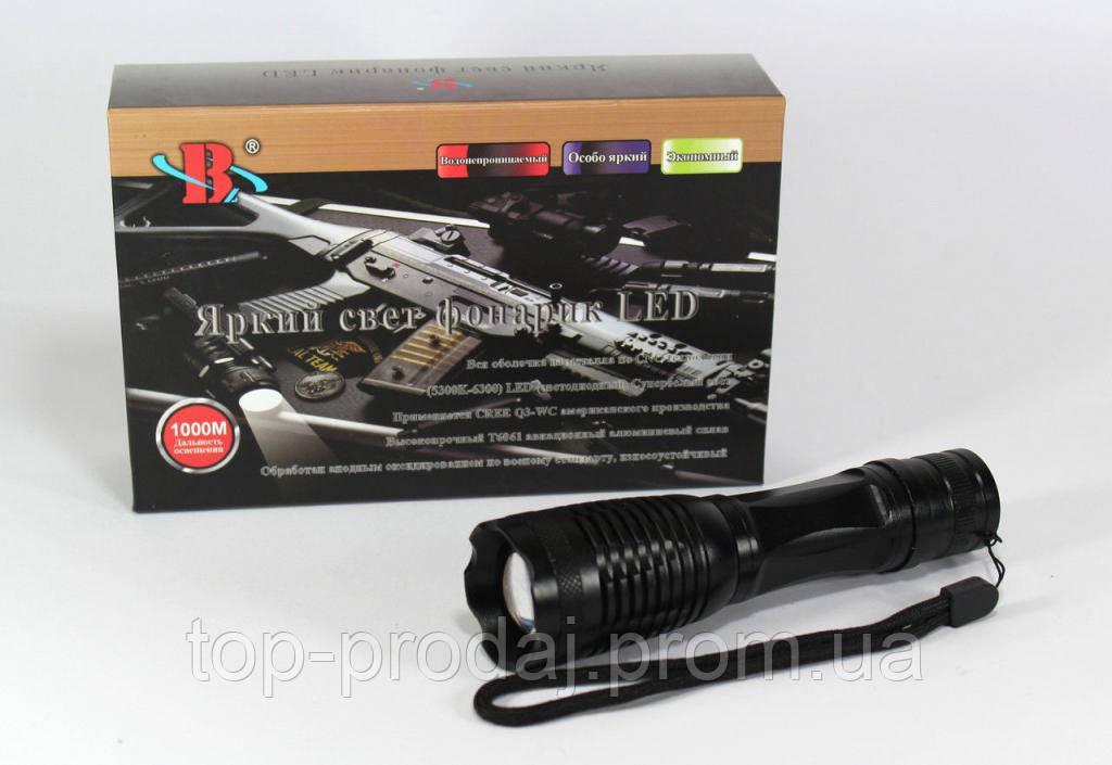 Фонарик BL 1837-T6 police, Фонарик ручной с аккумулятором, Фонарь светодиодный, Тактический фонарик