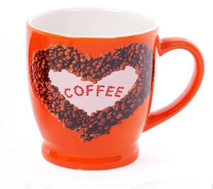 Кружка фарфоровая кофейная COFFEE 4 вида, 270мл (588-151)