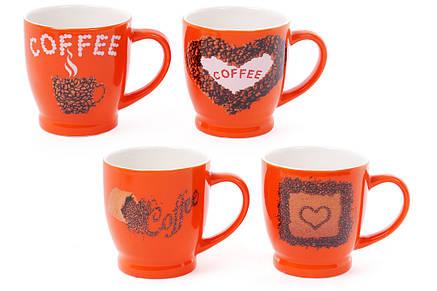 Кружка фарфоровая кофейная COFFEE 4 вида, 270мл (588-151), фото 2