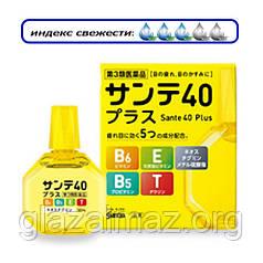Sante 40 Plus возрастные глазные капли с таурином, пантенолом (B5), витаминами E и B6