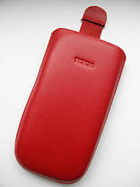 Чехол кожа красный E71 11.х6см. , фото 3