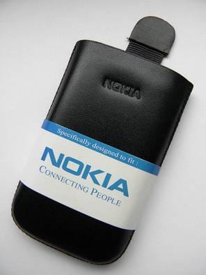Чехол для nokia X3 9.5х5.5см. кожа чёрный, фото 2