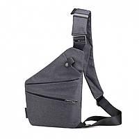 Мужская сумка Crossbody на правое плечо grey, фото 1