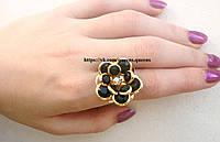 """Кольцо """"Белла"""" покритие 18к золотом. размер регулируется."""