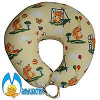 Подушка для кормления Слоники на бежевом (улучшенная) оптом