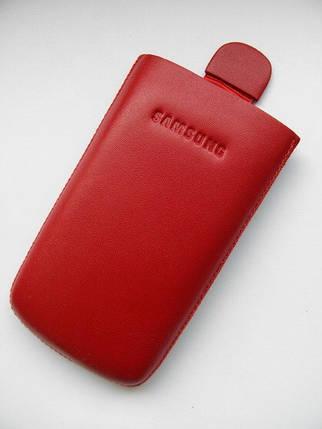 Чехол кожа красный S5230 10.5х5.5см. КАЧЕСТВО!!!, фото 2