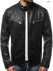 Кожаная куртка J.Style  с прошитыми плечами