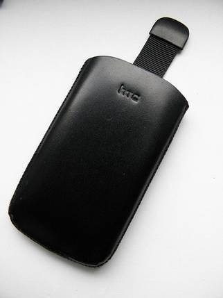 Чехол кожа чёрный HTC mini 10.5х6см. КАЧЕСТВО!!!, фото 2