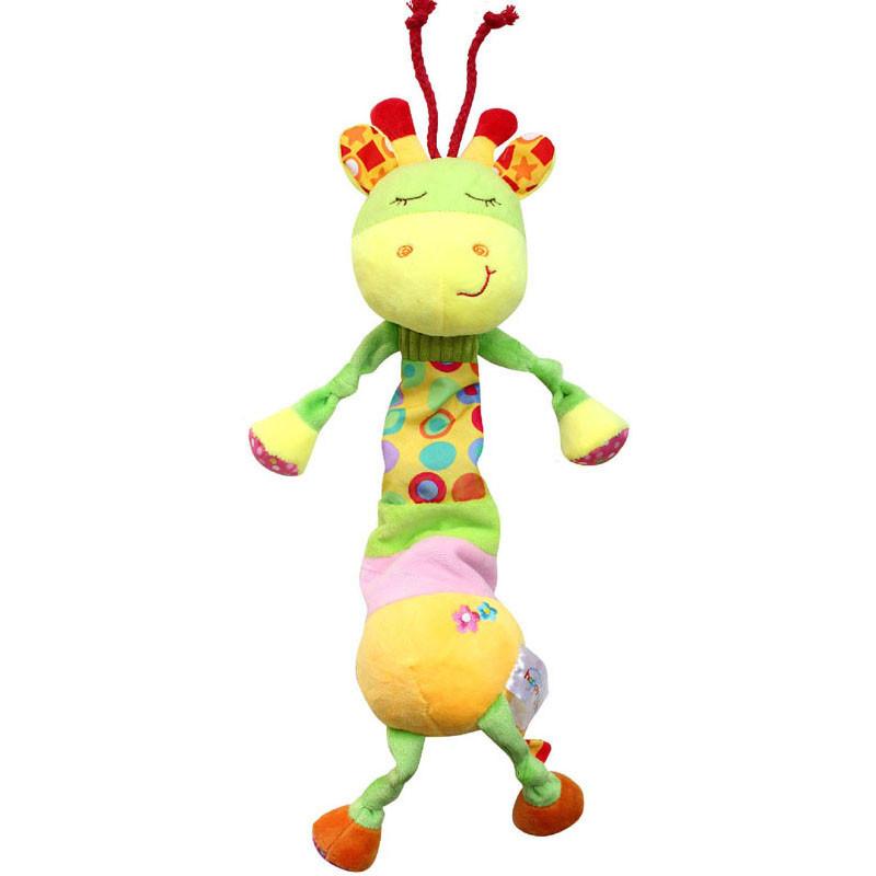 Мягкая музыкальная подвеска Жираф Happy Monkey