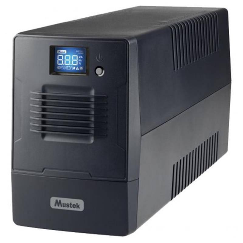 ИБП Mustek PowerMust 600 LCD, Line Int, 2xSchuko, USB (600-LCD-LI-T10)