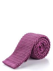Трикотажный фиолетовый галстук