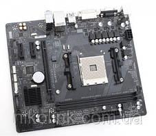 Материнська плата Gigabyte GA-B350M-D2 (sAM4, AMD B350, PCI-Ex16)(2xD DDR4/VGA/DVI/USB 3.1), б/у