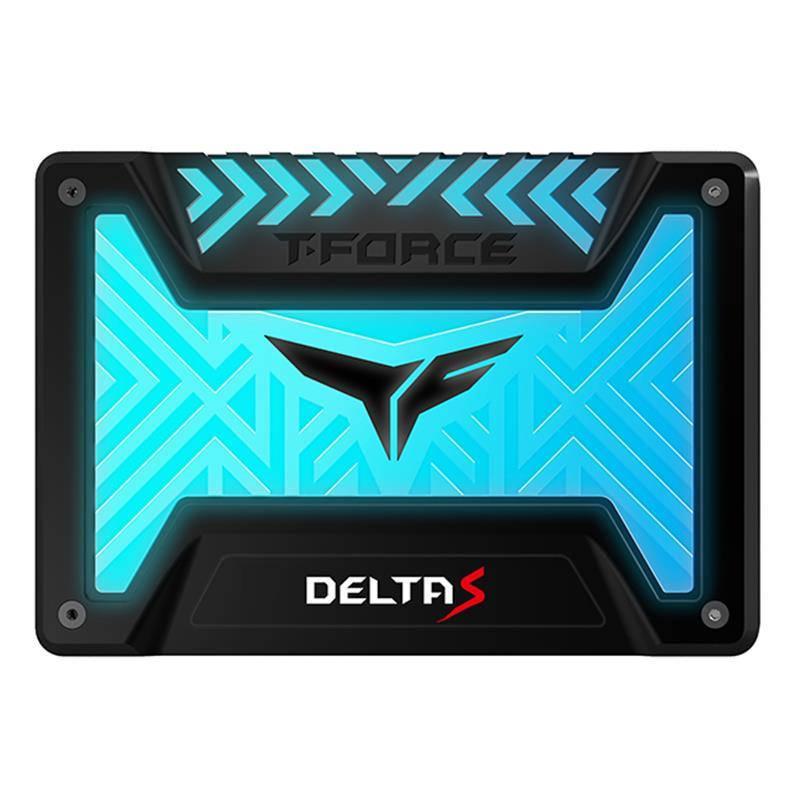 """SSD  250GB Team T-Force Delta S RGB 2.5"""" SATAIII 3D NAND TLC Black (T253TR250G3C312)"""