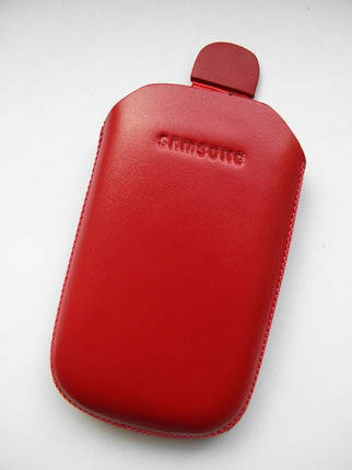 Чехол кожа красный C3510 10х6.5см. КАЧЕСТВО!!!, фото 2