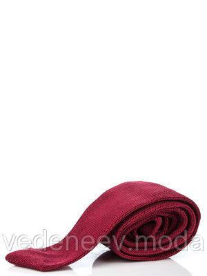 Трикотажный вишневый галстук