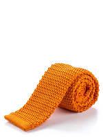Трикотажный оранжевый галстук