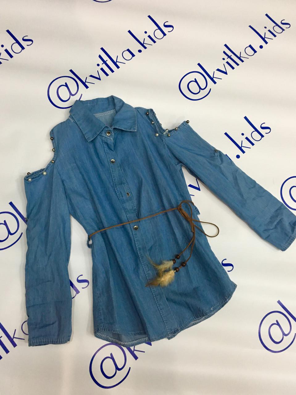 Рубашка джинсовая 4 6 8 10 12лет