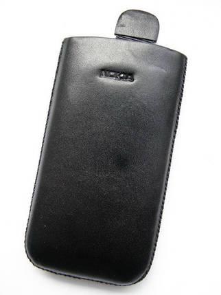 Чехол кожа чёрный E71 11.5х6см., фото 2