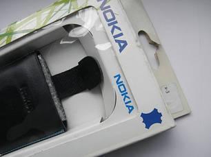 Чехол для nokia X3 10х5.5см. кожа синий, фото 2