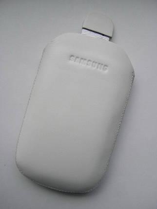 Чехол кожа белый C3510 10х6.5см. КАЧЕСТВО!!!, фото 2