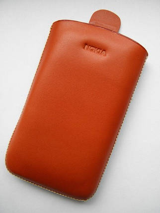Чехол кожа морковный E63 11.5х6.5см. КАЧЕСТВО!!!, фото 2