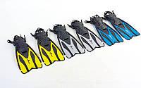 Ласты с открытой пяткой DORFIN 448 PL-448 (размер S-XL (38-45), жёлтый, синий, серый, красный)