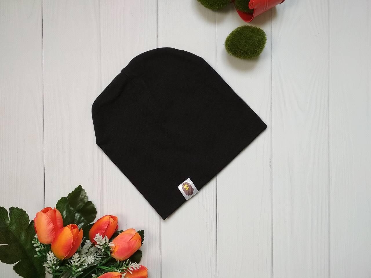 Детская деми шапка резинка Bape Kids цвет черный