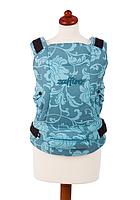 """Эргономичный рюкзак-переноска для детей """"ЕСО"""" Womar  бирюзовый в цветы"""