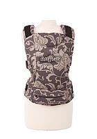 """Эргономичный рюкзак-переноска для детей """"ЕСО"""" Womar серый в цветы"""
