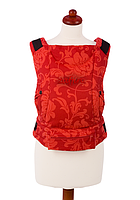 """Эргономичный рюкзак-переноска для детей """"ЕСО"""" Womar красный в цветы"""