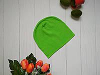 Дитячий демісезонний шапка зеленого кольору