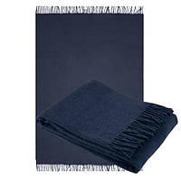 Плед из шерсти мериноса синего цвета 130х180