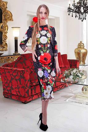 Красивое женское  платье в этно-стиле  Принт из коллекции Dolce&Gabbana. размеры 42-48, фото 2