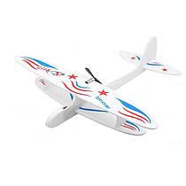 Метальний планер, літак з двигуном, 555