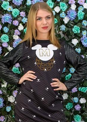 "Модная Туника на флисе ""Mickey -2"" Размеры 42-44, 46-48, фото 2"