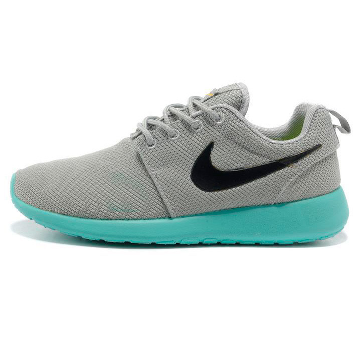 f5737901f84beb Женские кроссовки Nike Roshe Run серо берюзовые. Топ качество!!! р ...