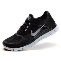 Кроссовки для бега Nike Free Run 3 Найк Фри Ран, черно-белые