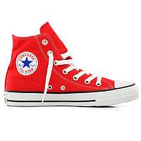 Кеды Converse высокие красные 2 - Топ качество! р.(36, 36.5, 42)