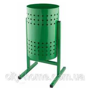 """Урна для мусора """"Цилиндр"""" 12 л. (зелёная), фото 2"""