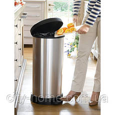 Ведро для мусора Curver Deco Bin педалью 40 литров, фото 3