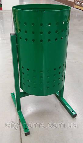 """Урна для мусора """"Цилиндр"""" 20 л. (зелёная), фото 2"""